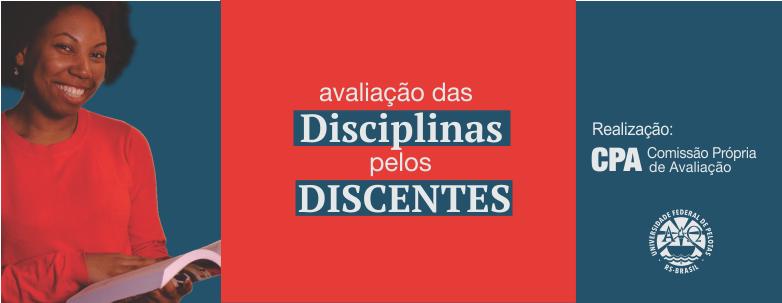 Avaliação disciplinas 2018-1