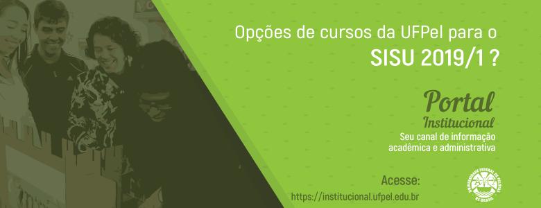 Portal Institucional – Opções de Cursos