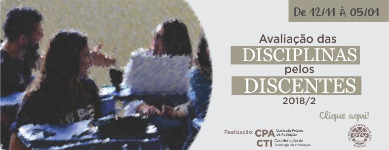 Avaliação de Disciplinas 2018-2