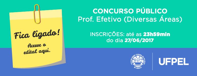 Concurso Público – Prof Efetivo (Diversas Áreas)