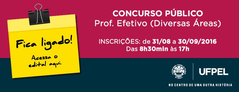 Concurso Público – Prof Efetivo – Edital 040/2016