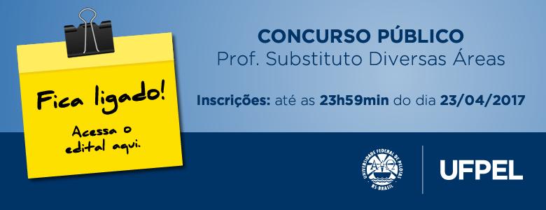 Concurso Público – Prof. Substituto (Diversas Áreas)