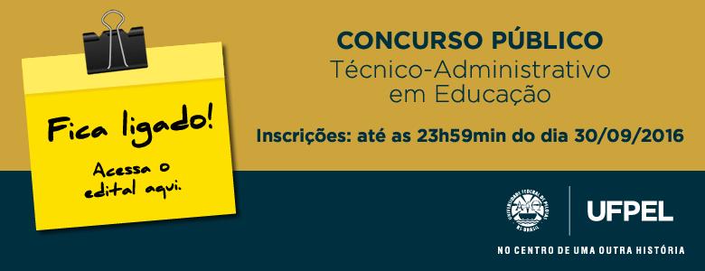 Concurso Público – TAEs – Edital 041/2016